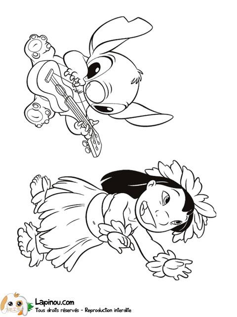 19 dessins de coloriage de lilo et stitch en ligne imprimer - Dessin lilo et stitch ...