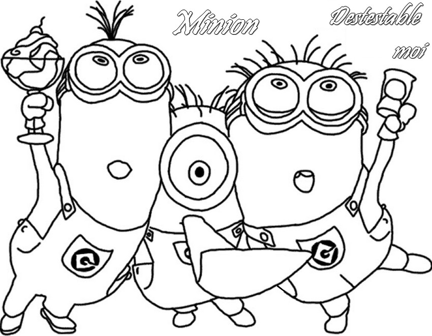 13 dessins de coloriage de minion rush a imprimer imprimer. Black Bedroom Furniture Sets. Home Design Ideas
