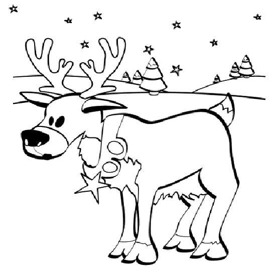 18 dessins de coloriage de p re no l et ses rennes imprimer - Dessin renne de noel ...