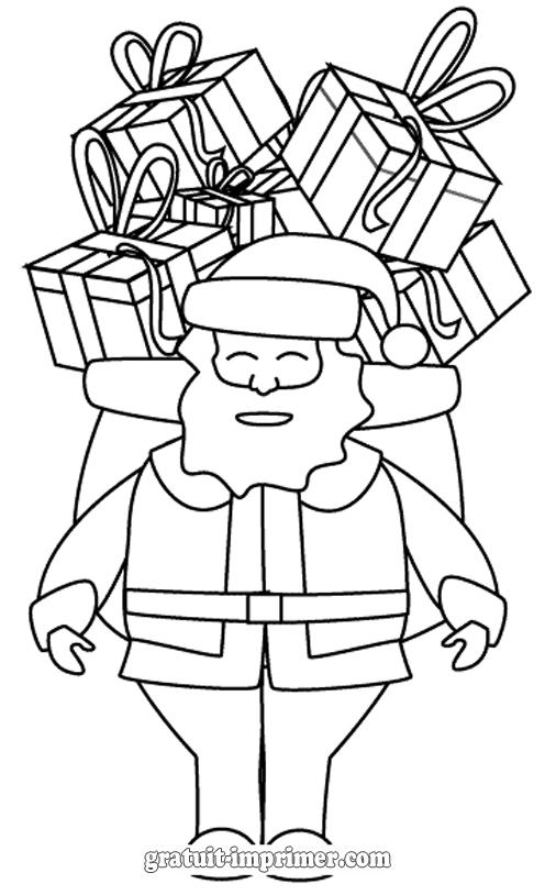 11 dessins de coloriage de p re no l gratuit imprimer - Dessin de noel gratuit ...