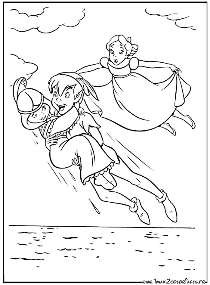 20 dessins de coloriage de peter pan le film imprimer - Coloriages peter pan ...