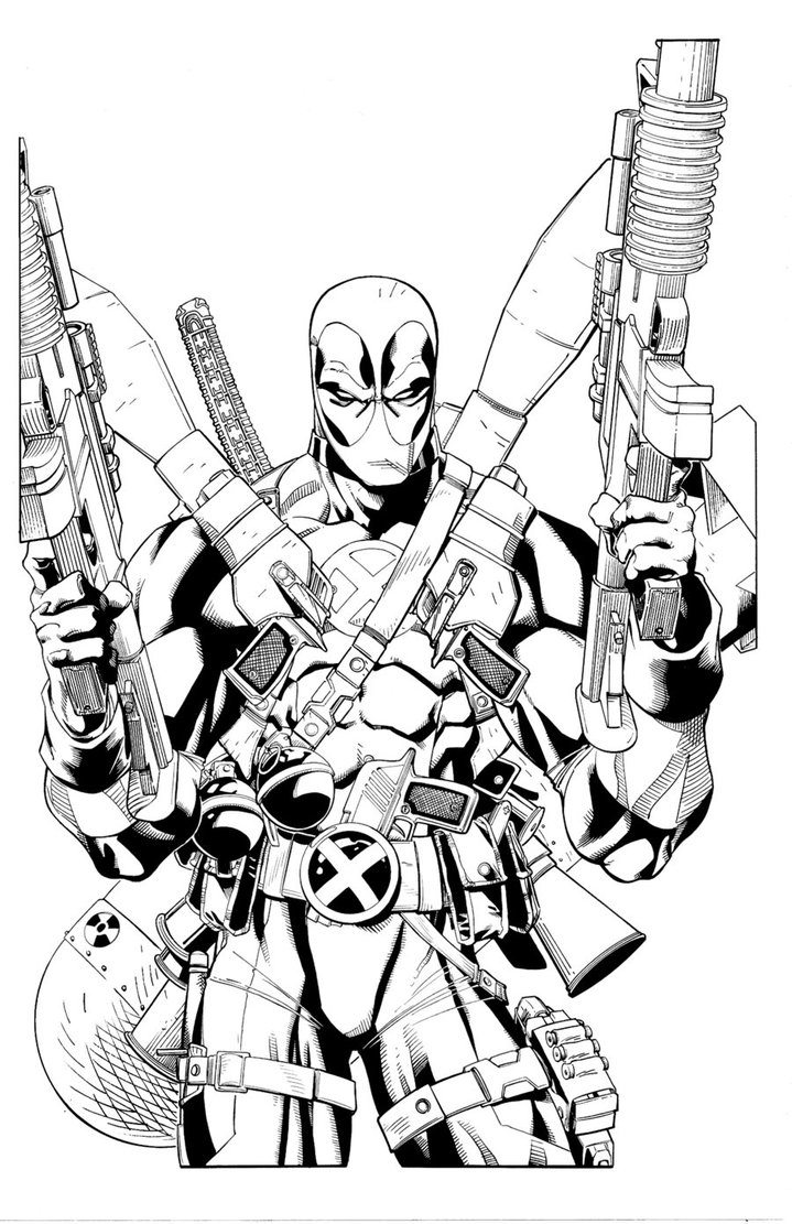 Coloriage A Dessiner Marvel Deadpool