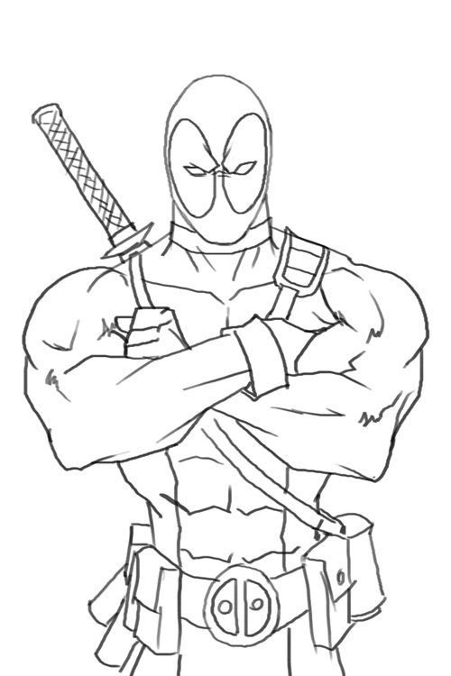 75 dessins de coloriage deadpool  u00e0 imprimer