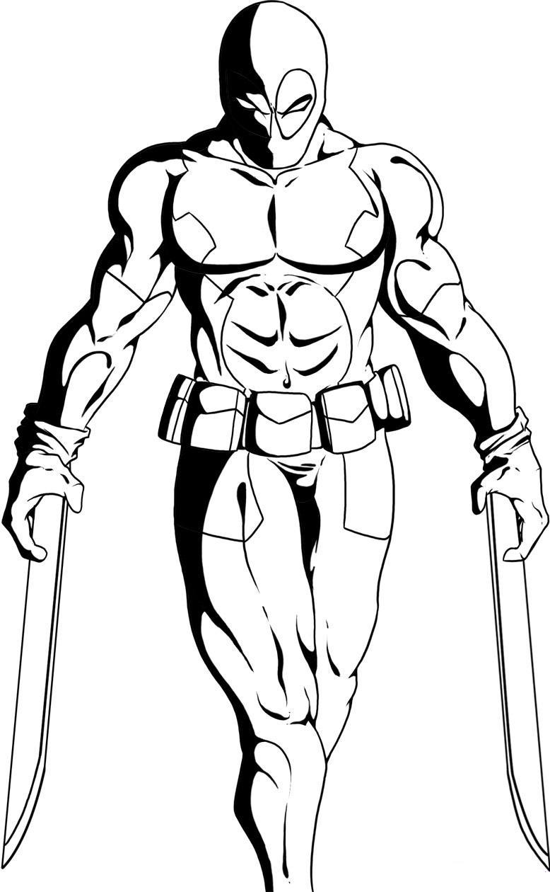 75 dessins de coloriage Deadpool à imprimer