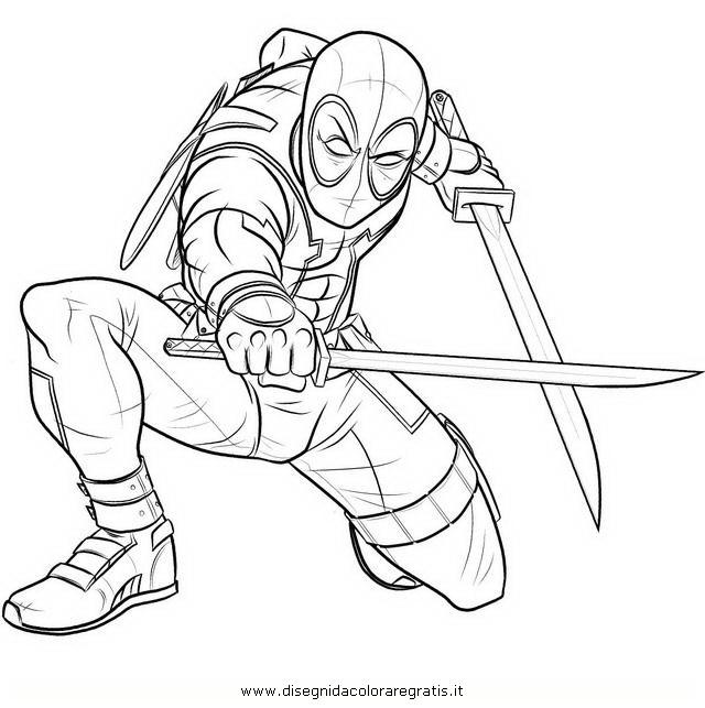 Coloriage a imprimer deadpool - Deadpool dessin ...