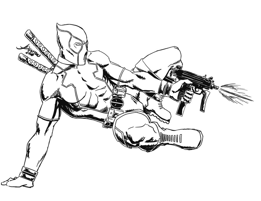 Dessin deadpool a imprimer - Dessin deadpool ...