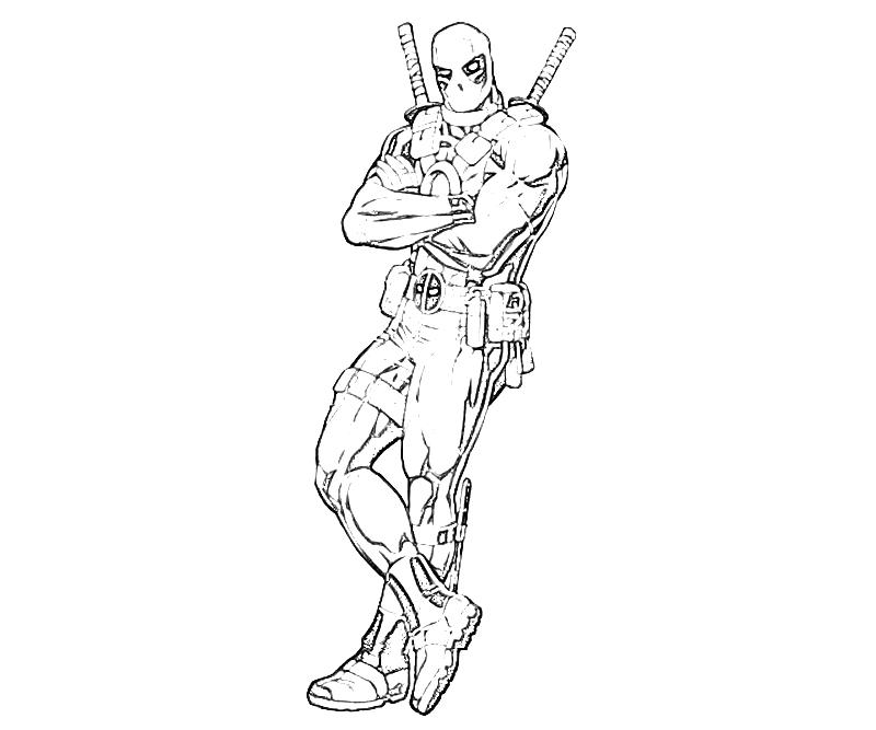 75 dessins de coloriage deadpool imprimer