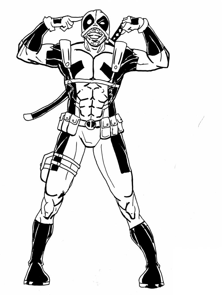 Coloriage deadpool a imprimer - Deadpool dessin ...