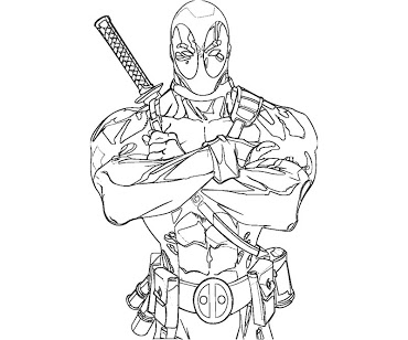 Dessin deadpool en ligne - Deadpool dessin ...