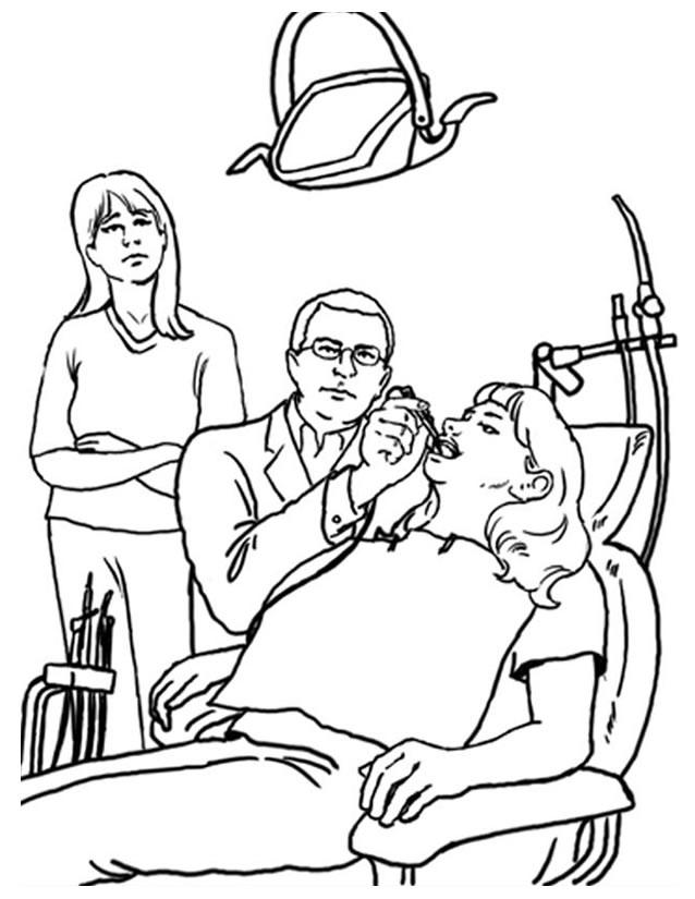 dessin à imprimer dentiste