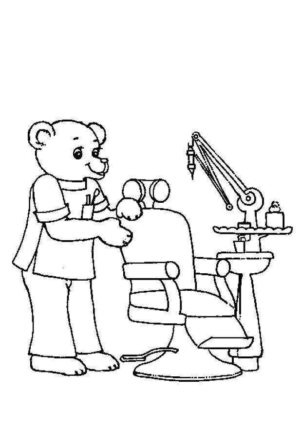 coloriage dentiste a imprimer