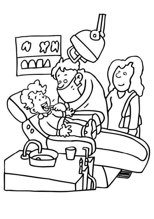 dessin dentiste a imprimer
