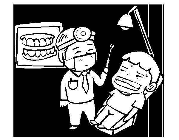 coloriage à dessiner dentiste imprimer