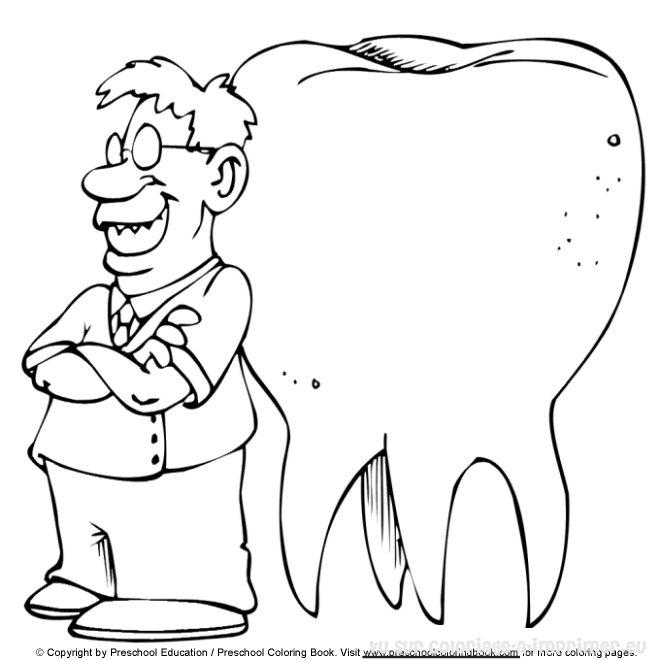 coloriage de dentiste a imprimer