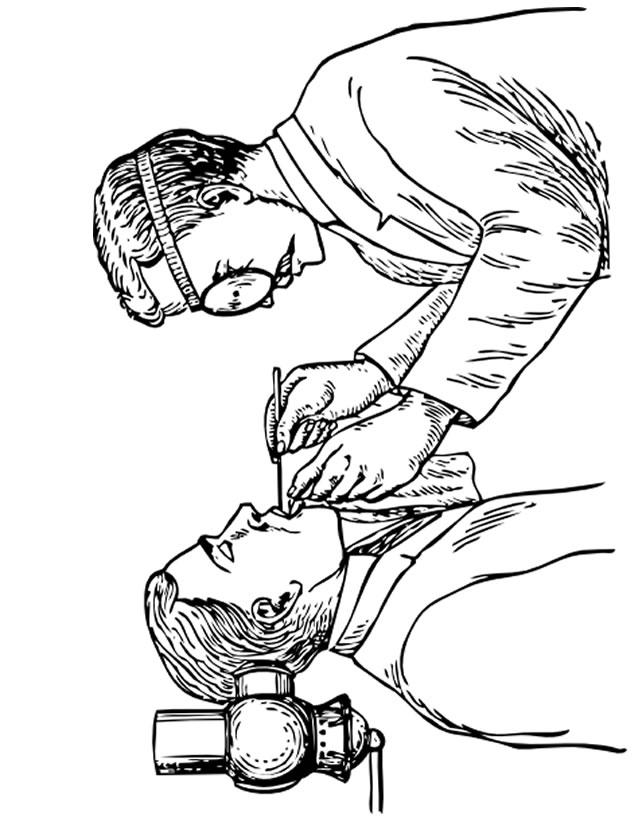 dessin de dentiste a imprimer