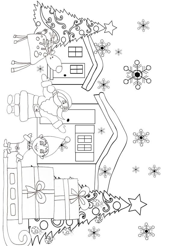 15 Dessins De Coloriage Des Lutins Du Pere Noel A Imprimer
