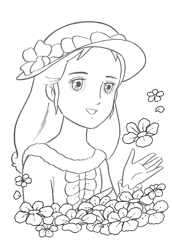coloriage dessin animé gigi