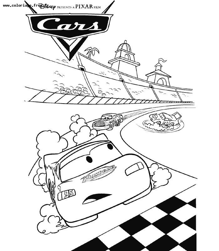 coloriage dessin anime cars