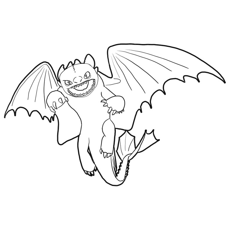 Free coloring pages of easy dragons - Dessin dragon simple ...