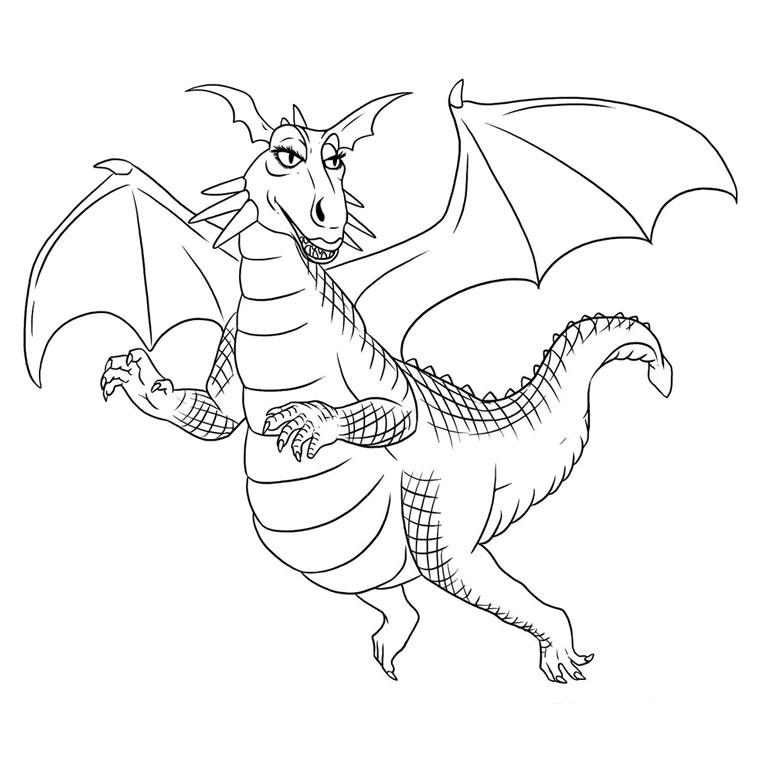20 dessins de coloriage dessin anim dragon imprimer - Dragon a imprimer ...