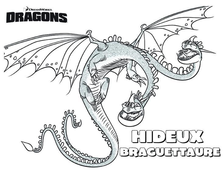 20 dessins de coloriage Dessin Animé Dragon à imprimer