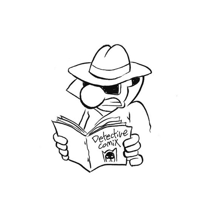 dessin à colorier detective conan