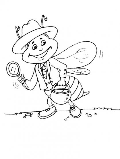 coloriage à dessiner de detective