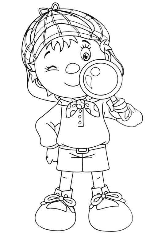 coloriage à dessiner winnie super detective