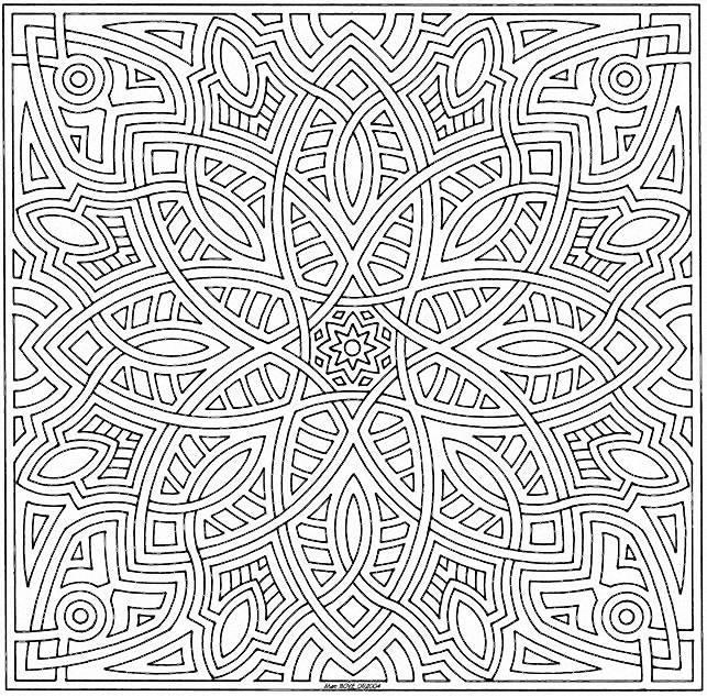 dessin à colorier difficile a colorier a imprimer