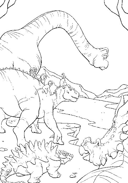 dessin à colorier dinosaure king saison 2 imprimer