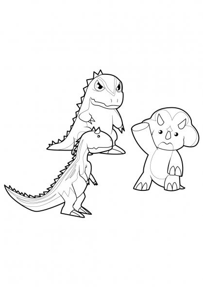 dessin dinosaur king à imprimer