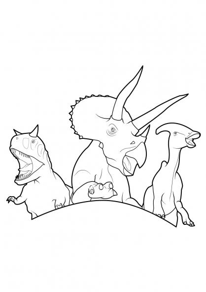 coloriage à dessiner dinosaure king saison 2