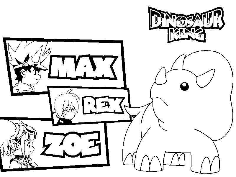 coloriage dinosaures king imprimer