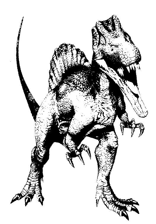 coloriage à dessiner dinosaure king a imprimer gratuit