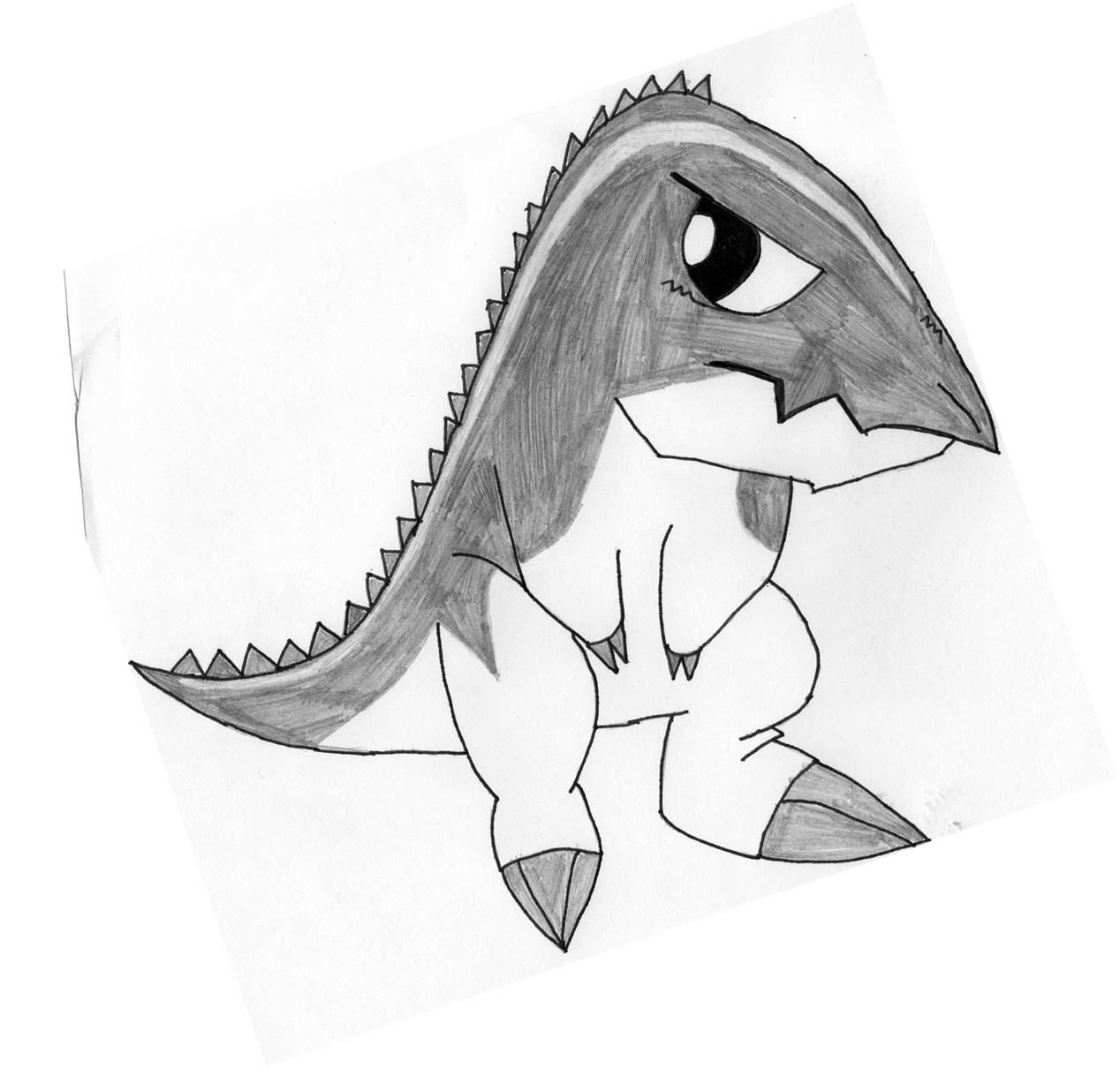 coloriage à dessiner à imprimer dinosaure king