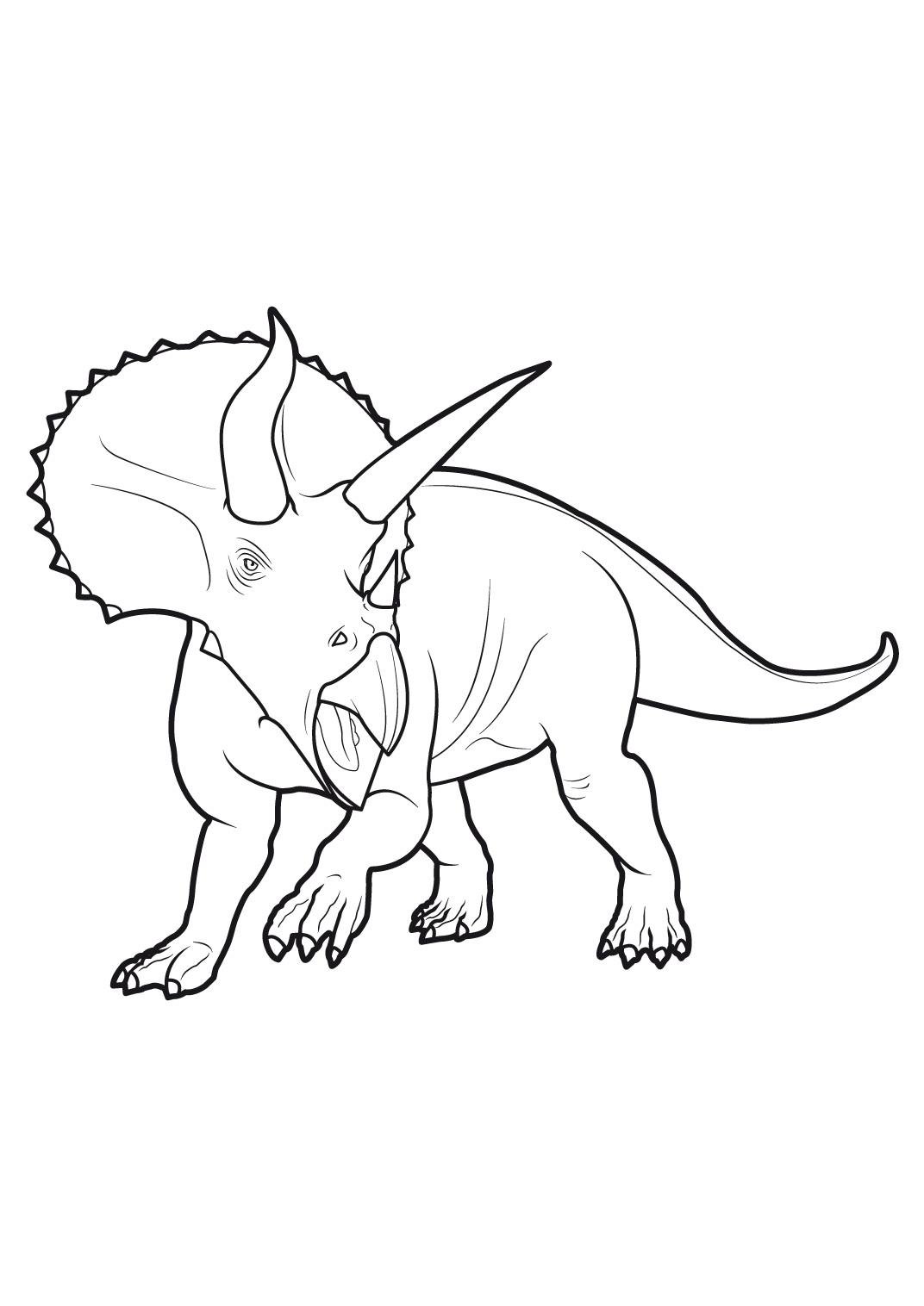 coloriage à dessiner gratuit dinosaure king