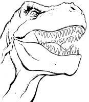 dessin à colorier gratuit dinosaure king
