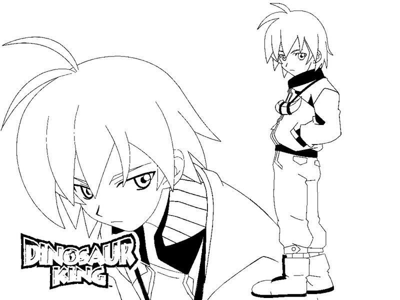 dessin à colorier dinosaur king a imprimer