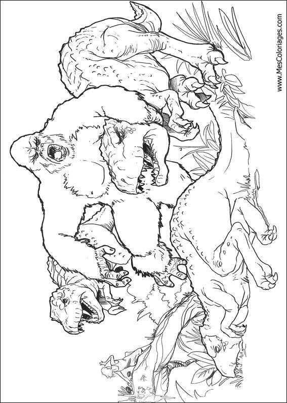 jeux coloriage dinosaure king