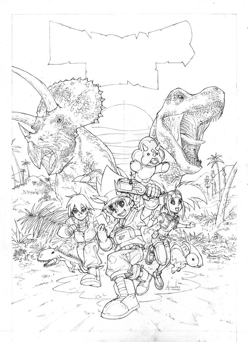 dessin dinosaur king gratuit