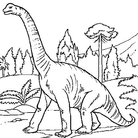 20 dessins de coloriage dinosaure en ligne gratuit à imprimer