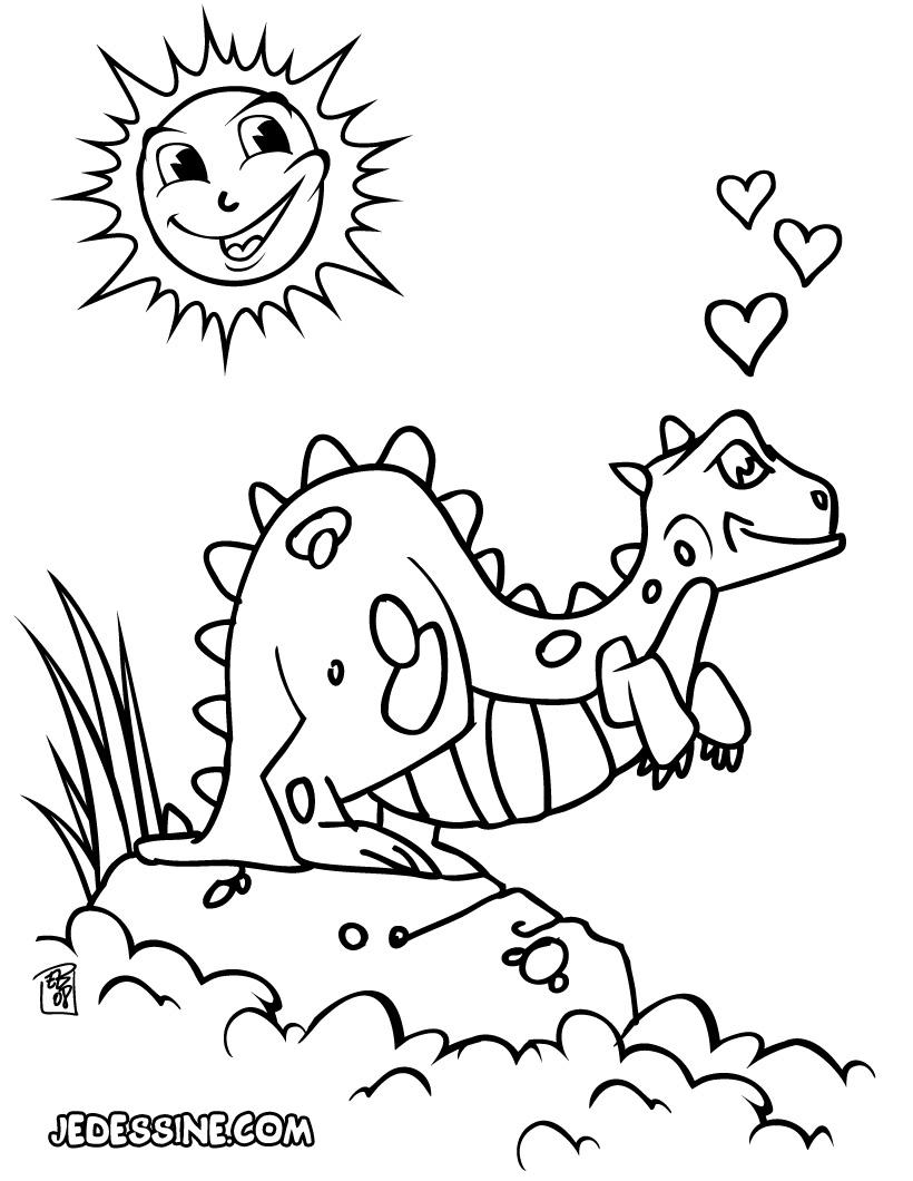 20 dessins de coloriage dinosaure en ligne imprimer - Coloriage ligne ...