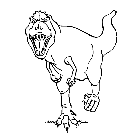 19 dessins de coloriage dinosaure tyrex imprimer - Modele dessin dinosaure ...
