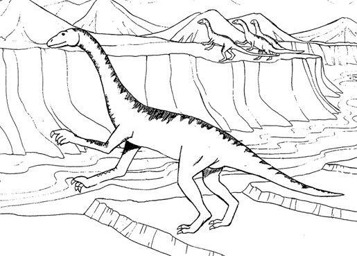 Coloriage a imprimer dinosaure carnivore - Coloriage de dinosaures ...