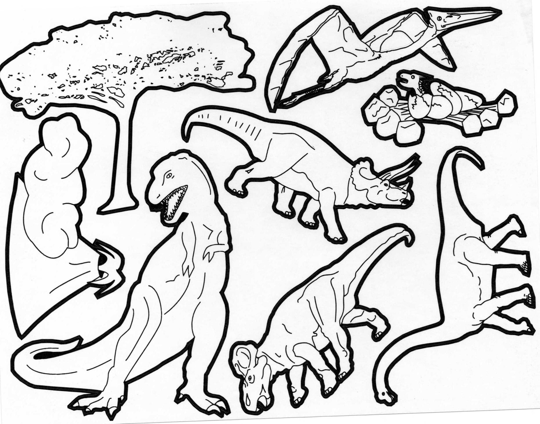 Dessin dinosaure tyrannosaure - Coloriage de dinosaures ...