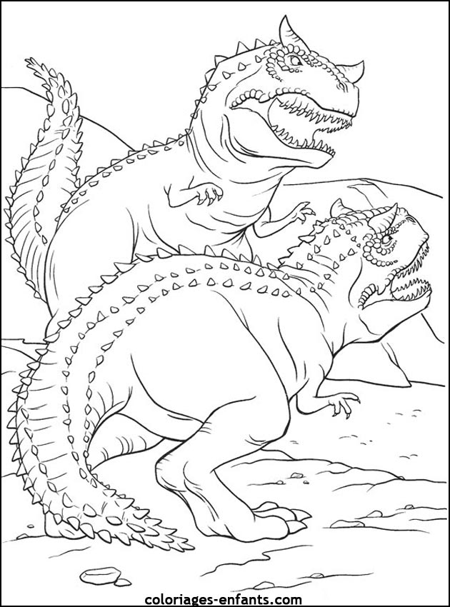 Coloriage Dinosaure Effrayant.Coloriage A Dessiner Dinosaure Long Cou