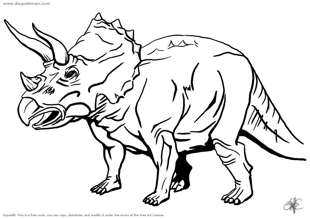 dessin a colorier denver le dinosaure