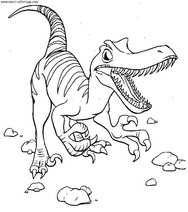 dessin à colorier dinosaure disney