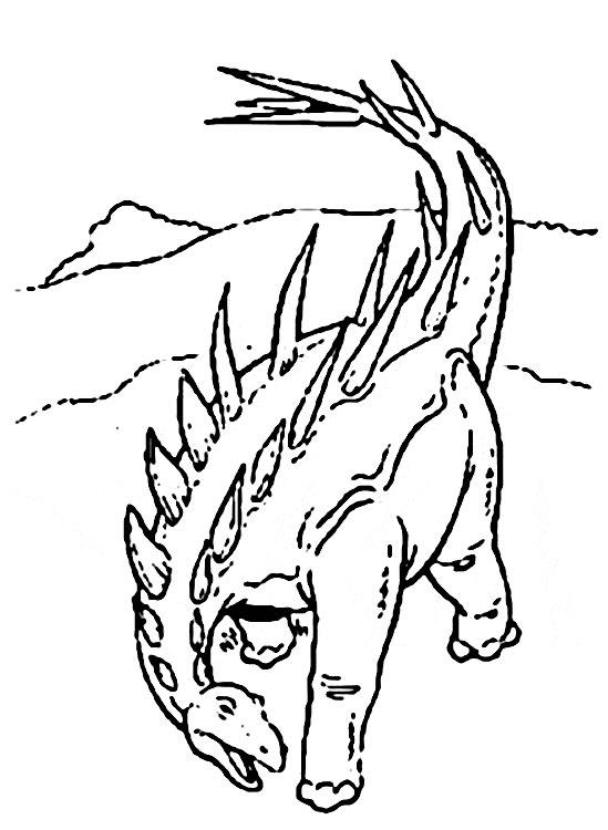 dessin � colorier dinosaure
