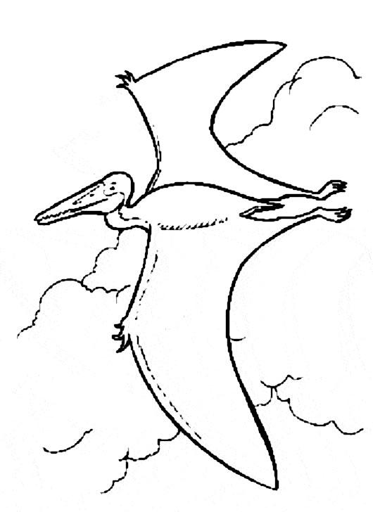 coloriage à dessiner dinosaure long cou